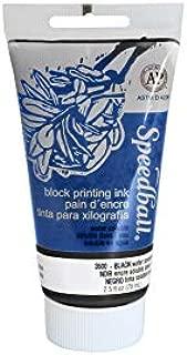 Speedball Water Soluble Block Printing Ink, Black, 2-1/2 Ounces - 380663