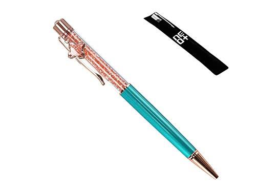 Bolígrafo de calidad con cristales de Swarovski – 2 recambios y bolsa de bolígrafo incluida – vendedor de I AM UK, color COLGANTE PEACOCK PEACOCK PENDANT
