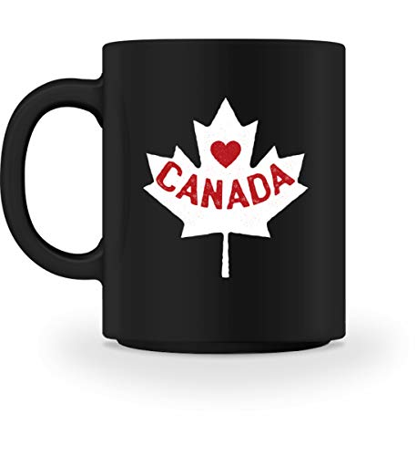 Generisch I love Canada Kanada Ahornblatt Canada Day Kanada Flagge Fahne Kanadier - Tasse -M-Schwarz