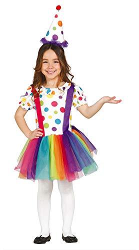 FIESTAS GUIRCA Disfraz tutú Multicolor payasita niña Talla 3-4 años