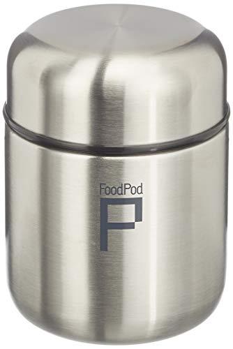Pioneer FoodPod Thermo-Speisebehälter 280 ml Edelstahl Doppelwandig Isolierbecher für Lebensmittel 6 Stunden Heiß 24 Stunden Kühl Auslaufsicher BPA-Frei – Stahl