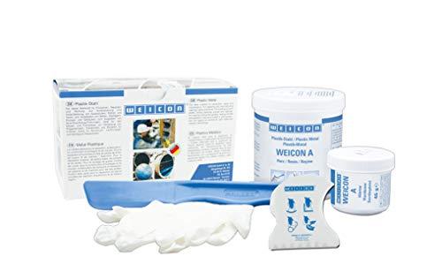 Weicon 10000005 A Epoxidharz Plastik-Stahl 500g für Reparaturen in der maritimen Industrie, dunkelgrau