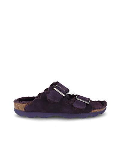 Bio Genuins Bio Sandalen mit zwei verstellbaren Schnallen, hergestellt in der Farbe Violett., Violett - dunkelviolett - Größe: 41 EU