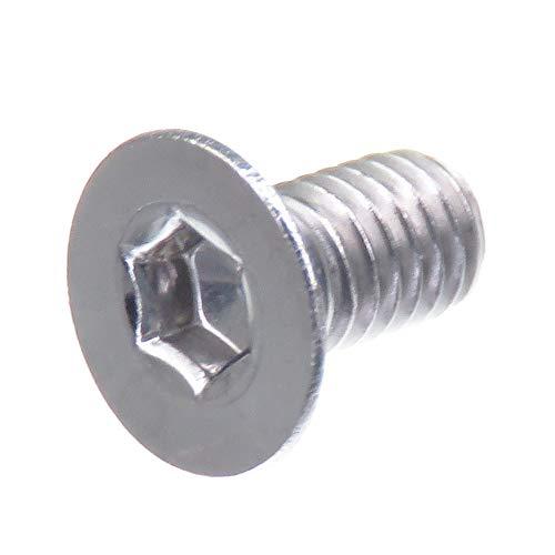 Tornillo avellanado SECCARO M3 x 6 mm, acero inoxidable V2A VA A2, DIN 7991 / ISO 10642, zócalo hexagonal, 20 piezas