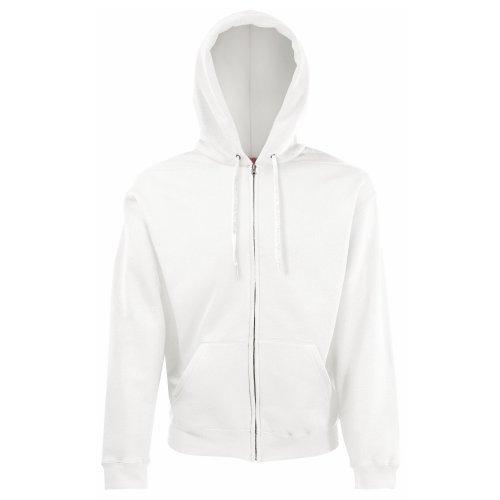 Classic Hooded Sweatjacke - Farbe: White - Größe: M