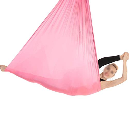 WWL Aerial Silk Elástica Yoga Hamaca Aerial Hamaca Yoga, Algodón Yoga Swing Para Yoga Antigravedad Ejercicios Inversión Flexibilidad Mejorada Resistencia Núcleo Accesorios Montaje Negro Silk Yoga Swin