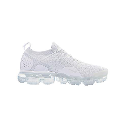 Nike Damen W Air Vapormax Flyknit 2 Fitnessschuhe, Mehrfarbig (White/White/Vast Grey/Football Grey 105), 44 EU