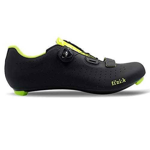 Fizik Tempo Overcurve R5 buty do roweru wyścigowego, czarne/żółte, Fluo, rozmiar buta EU 44 2019, buty rowerowe, buty do jazdy na rowerze