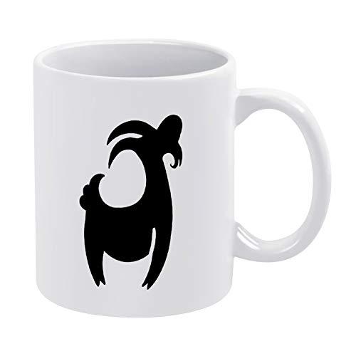 Taza de café con signo del zodiaco Capricornio, regalo para hombres y mujeres, amigas de cumpleaños, 11 oz de cerámica blanca