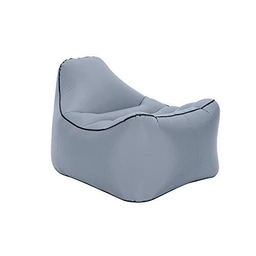 Sofá Inflable Perezoso Playa al Aire Libre Saco de Dormir Perezoso sofá de Aire portátil Cama Inflable-Gris_El 100 * 80 * 68cm