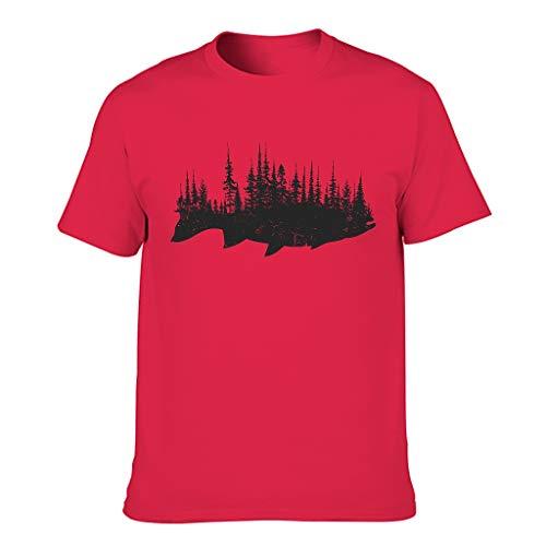 Camiseta de algodón para hombre, regalo de pesca. Red1 XXXXXXL