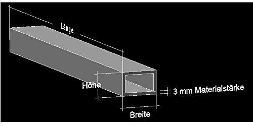 Alu Rechteckrohr 40 x 30 x 3 mm Aluminium AlMgSi0,5 Profilrohr Profil Aluprofil Rohr (100 cm)