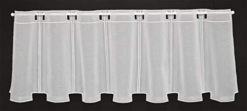 Tenda della finestra in semplici ottica altezza 30 cm | Può scegliere la larghezza in segmenti da 15,5 cm, come vuole | Colore: Bianco | Tendine cucina