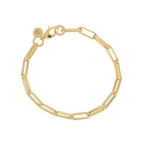 delPia, Pulsera de mujer con cadena, oro y alma de plata
