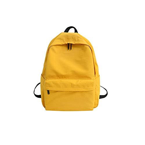 JSJJAUJ Zaino Zaino su Tela Donna Zaino Casual Grande capacità Designer School Bag Semplice College Trend Travel (Color : Yellow, Size : 29cm x12cm x40cm)