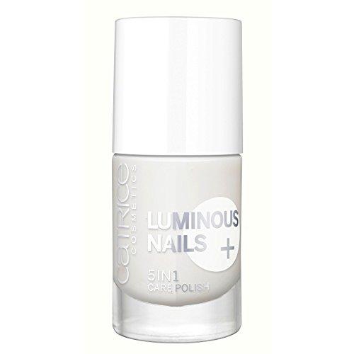 Catrice cosmetics Luminous Nails + 5 en 1 Care Polish de couleur n°30 Mon Blanc, fortifie, protège et éclaircit visiblement les ongles, 10 ml, 0.33 fl.oz
