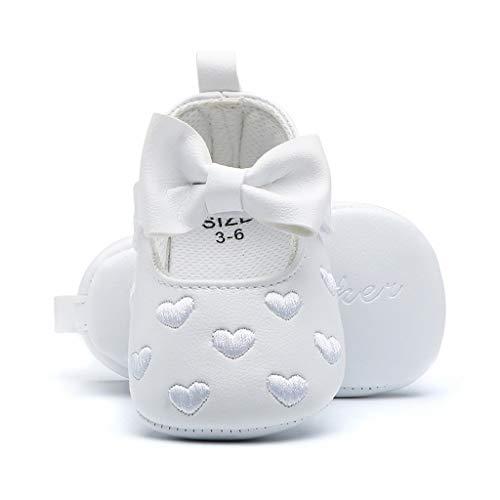 Luckycat Verano Zapatos para Bebé Niñas Zapatos de Primeros Pasos Antideslizante Pajarita Breathable Suela Blanda Tela de Algodón Zapatos de Niñito Sandalias de Bowknot
