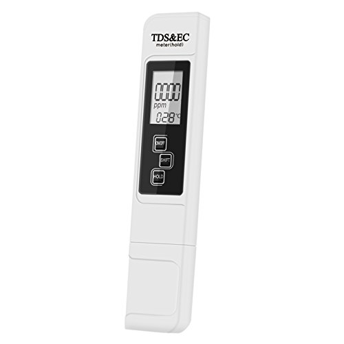 Misuratore EC e TDS Tester, LOMATEE Misuratore qualità dell'Acqua EC / TDS / Temperatura 3 in 1 LCD digitale, Tester acqua portabile