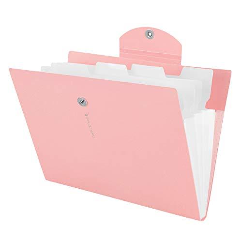 Yigou Cartella Portadocumenti A4 Espansione Della Cartella di File Letter A4 Tasche di Carta Organizzatore di Documenti di Fisarmonica, 5 Tasche