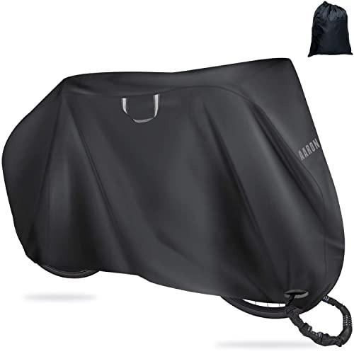 AARON Bikecover Fahrradabdeckung - hochwertige Schutzhülle für Fahrrad - wasserfeste Abdeckplane mit Frostschutz für alle Fahrradgrößen bis 29