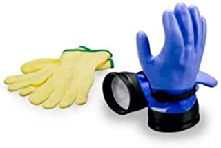 DUI Zip Gloves Heavy Duty Dry Suit Gloves with Liners