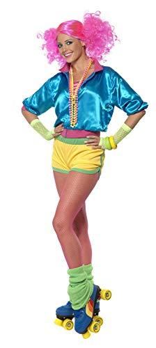 Smiffys-39464M Disfraz de Patinadora, nen, con Top, Shorts y Camiseta Tubo, Color, M-EU Tamao 40-42 (Smiffy'S 39464M)