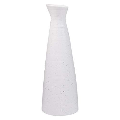 AUUM Flower Vases for Decor, 9 Inch Tall Ceramic Vase Modern Home Decor Vase for Centerpieces, Kitchen, Office, Wedding, or Living Room-White