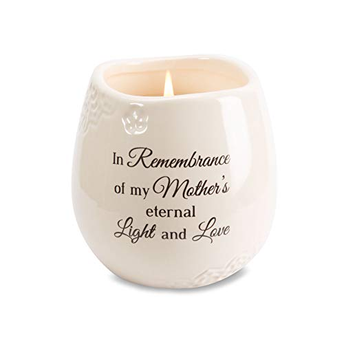 Pavilion Gift Company 19179 in Memory of Mother Ceramic Soy Wax...