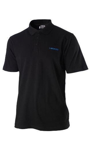 HEAD Bjorn Polo Shirt Herren Kurzarm Sport Poloshirt 811273-BKBL Black/Blue - XS