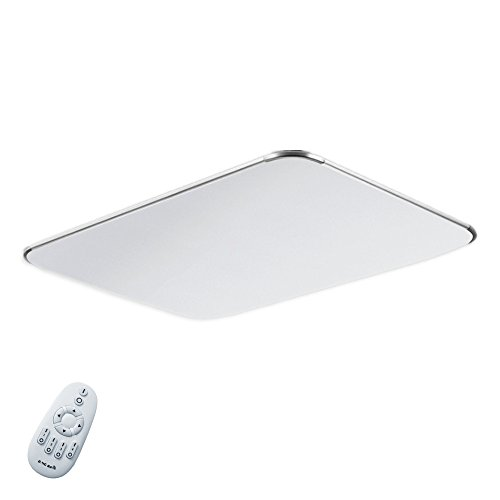 MCTECH 48W LED Deckenleuchte Ultraslim Modern Deckenlampe Flur Wohnzimmer Lampe Schlafzimmer Küche Energie Sparen Licht Wandleuchte Farbe Silber Dimmbar