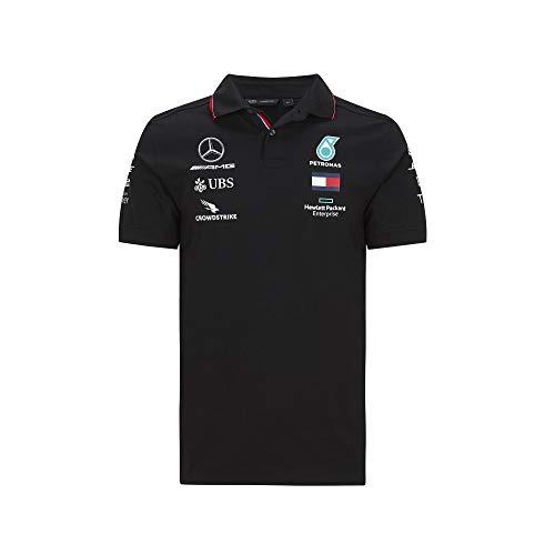 Formula 1 Herren-Poloshirt, Scuderia Ferrari, Rot, Größe XS, Herren, Mercedes-AMG Petronas F1 - Team Polo 2020, schwarz, X-Large
