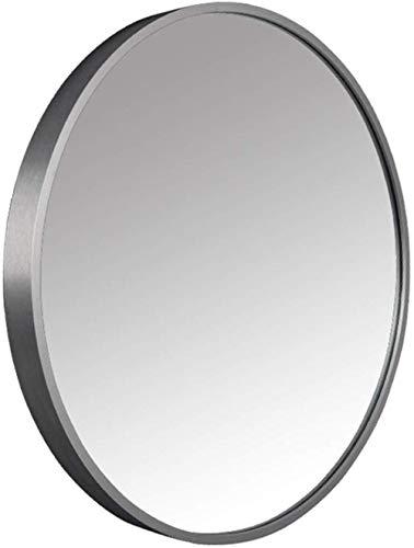 AOIWE Espejo de baño Redondo para el pasaje de Entrada, Dormitorio, Sala de Estar, etc, Vidrio, Espejo de Afeitado de tocador de Maquillaje, Decorativo de Pared