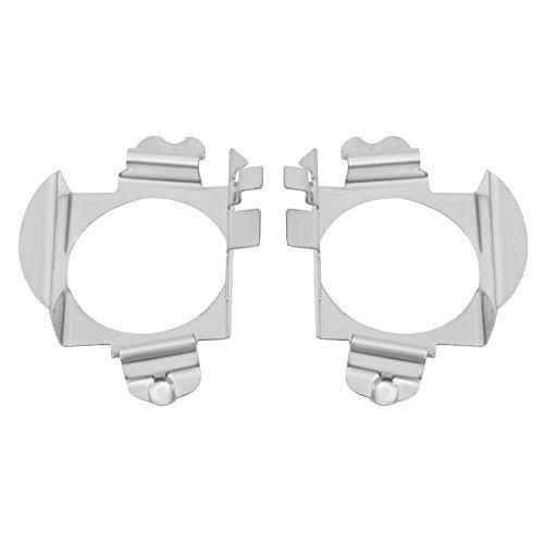 Qiilu 1 Paire Ampoules Phare Adaptateur Retenue Titulaire de H7 LED