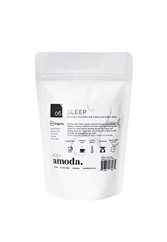 SLEEP TEA by Amoda - SLEEP AID - SLEEP - ORGANIC TEA - A delicious keep calm sleepytime tea - Valerian, Chamomile, Passionflower, Lemon balm, Lavender, Calm, Bedtime tea, Nighttime tea, Calming 2.6oz