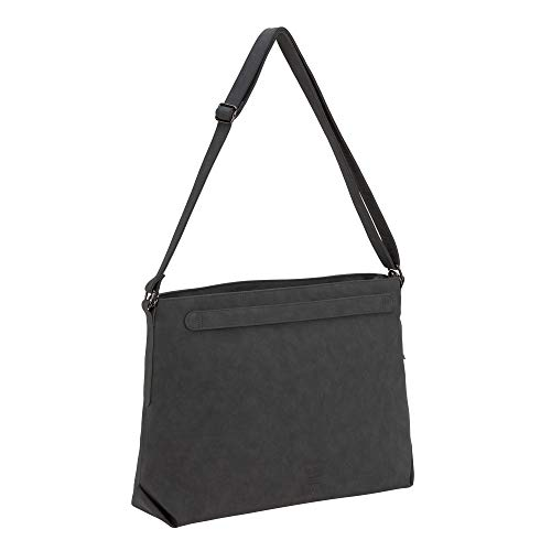 LÄSSIG 1101030236 baby luiertas inclusief wikkelaccessoires duurzaam geproduceerd Tender Shoulder Bag antraciet, grijs