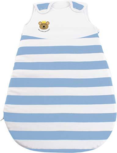 Baby Schlafsack & Strampler vom Kliniklieferant Nr. 1 | Für Alter 0 bis 12 Monate | Öko-Tex 100 zertifiziert | Sicher & Nachhaltig | Anti-Allergisch & Komfortabel Blau - Bär Größe: 50/56