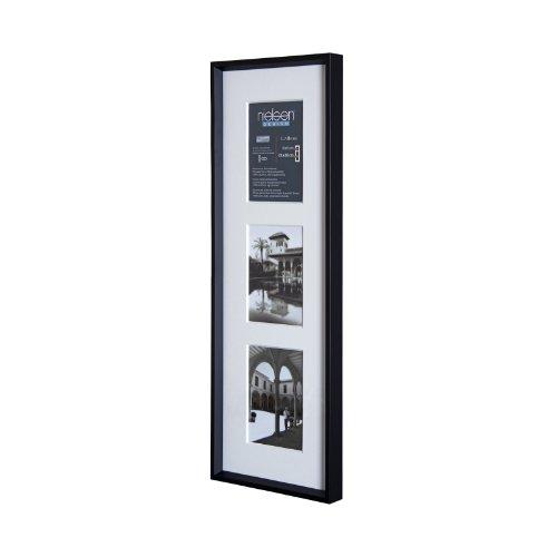 Fotorahmen Bilderrahmen Wechselrahmen mit Aluminiumrahmen schwarz 3 x 10 x 15 Qualitätsrahmen von Nielsen Design