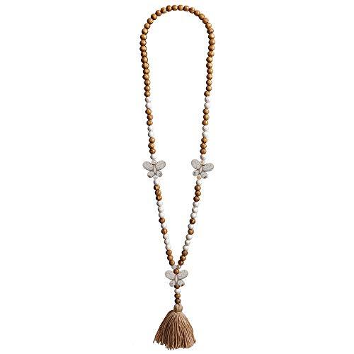 Yidarton Damen Halskette Lange Bohemia Bunte Handmade Quaste Kette Halskette Frauen Geschenke Mädchen