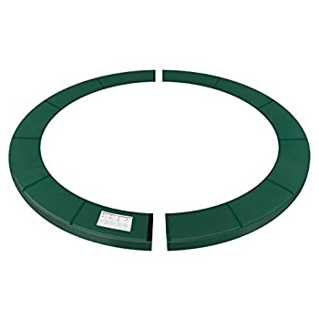 SONGMICS Replacement Trampoline Safety Pad Mat 14 ft  168 Inches  Removable Spring Cover UV-Resistant Tear-Resistant Edge Protection Standard Size Dark Green USTP014C02