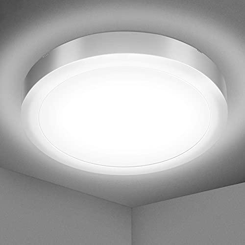 Lampada da soffitto a LED per bagno, Elfeland Plafoniera Luce LED IP54 1700LM 18W Equivalente a 120W 5000K Luce bianca naturale per bagno Camera da letto Cucina Sala da ballo Sala da pranzo Corridoio