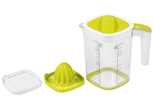 Rotho 1026005070 Messbecher, Kunststoff, Grün/Transparent, 1,5 Liter