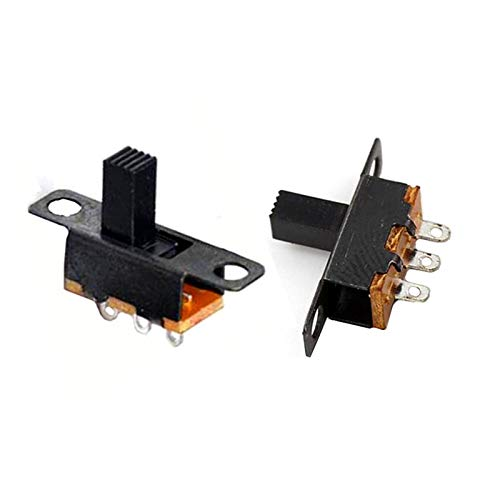 Yanqhua Micro Interruptor 20 / 50pcs / Lote Micro Diapositiva Interruptor 3Pin 2 Posición 1p2T ON-ON-ON-ON-Off Toggle Switch Manija Longitud 6mm SS12F15VG6 SS12F15VG5 (Color : Length 6mm 20pcs)