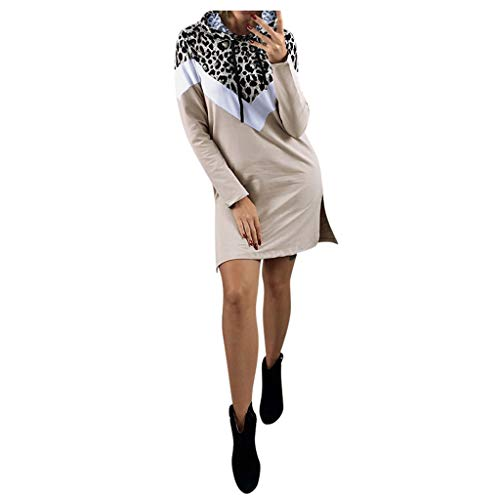 Amazing Deal Witspace Women Sexy Long Sleeve Dress Ladies Hooded Leopard Print Dress
