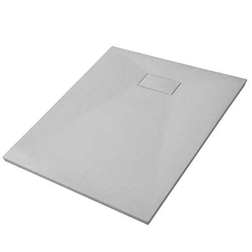 Duschtasse Duschwanne rechteckig GT-Serie Beton-Optik aus SMC - Breite 90 cm - Größe und Zubehör wählbar, Maße Duschwanne:90x180cm, Ablaufgarnitur:Inkl. Ablauf Typ B