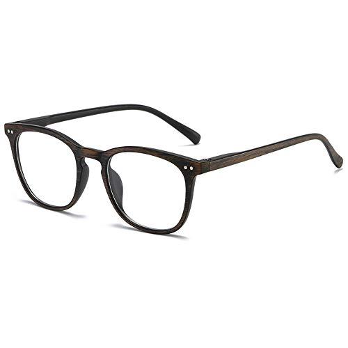 KOOSUFA Lesebrille Herren Damen Federscharnier Holzoptik Lesehilfen Nerdbrille Retro Qualität Vollrandbrille Sehhilfe 1.0 1.25 1.5 1.75 2.0 2.25 2.5 2.75 3.0 3.5 4.0 (Braun, 2.0)