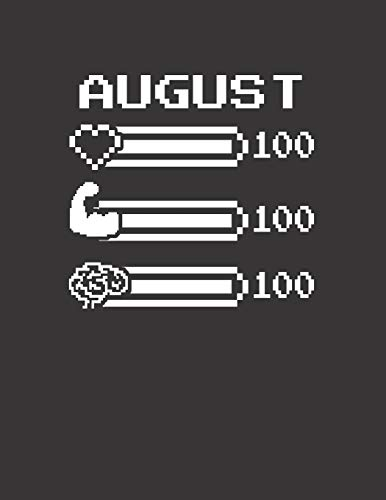 AUGUST: Pixel Retro Game 8 Bit Design Blank Composition Notebook College Ruled, Name Personalized for Boys & Men. Gaming Desk Stuff for Gamer Boys. ... Gift. Birthday & Christmas Gift for Men.