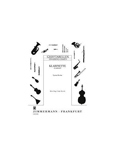 Grifftabelle für Klarinette (BoehmSystem): Klarinette (System Böhm).