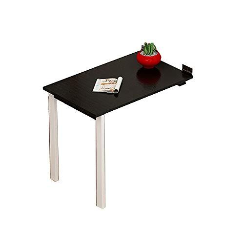 Tables HAIZHEN Pliable Pliante, télescopique Invisible fixée au Mur d'ordinateur de Noire et Blanche Stations de Travail informatiques (Couleur : Noir, Taille : 100 * 40 * 74cm)