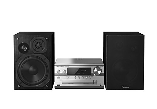 Panasonic SC-PMX70BEGS Micro HiFi System (CD Spieler, DAB+, Bluetooth, USB, Stereo Cinch, NFC, 120 Watt RMS) silber