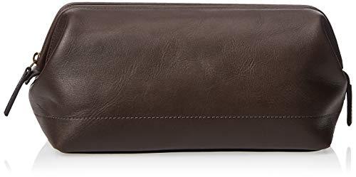 Fossil Herren Framed Shave Kit Dark Brown Handtaschenorganizer, dunkelbraun, 10.3